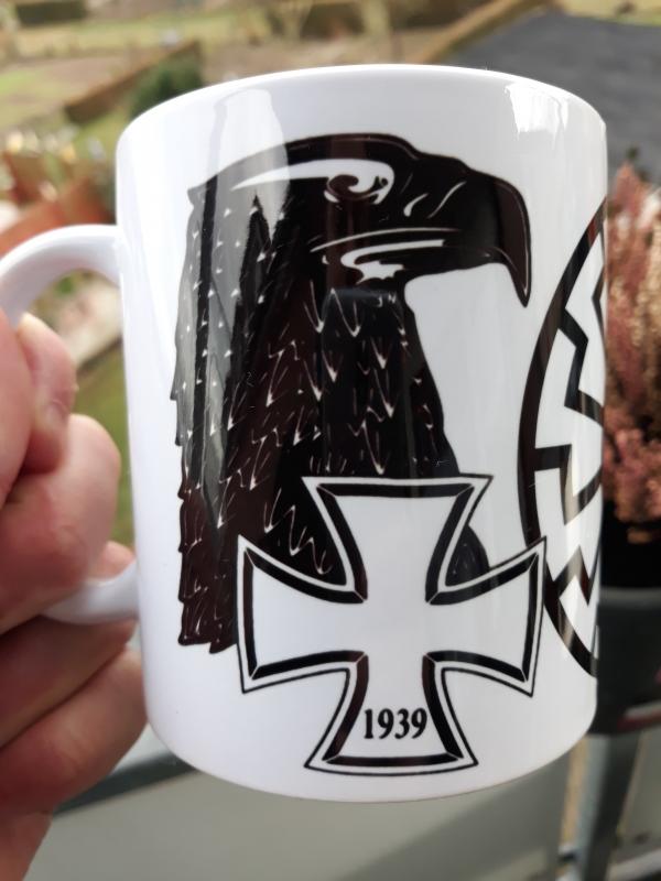 Schwarze Sonne+Reichsadler Eisernes Kreuz - Tasse