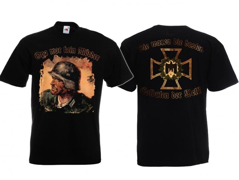 Opa war kein Mörder - Sie waren die besten Soldaten der Welt - T-Shirt schwarz