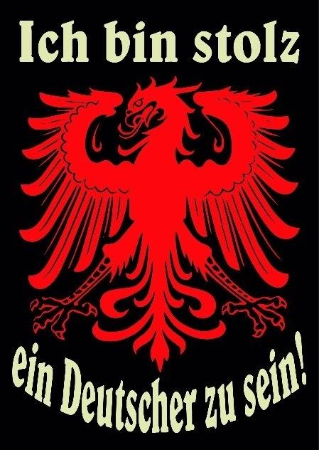 Ich bin Stolz ein Deutscher zu sein - Aufkleber