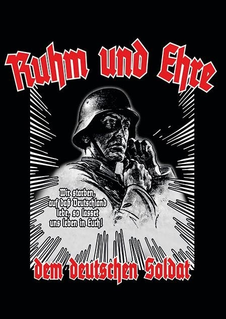 Ruhm und Ehre dem Deutschen Soldat - 80 Aufkleber