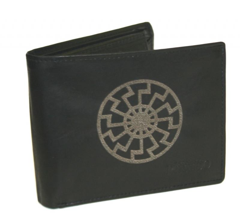 Schwarze Sonne - Geldbörse aus Rindleder