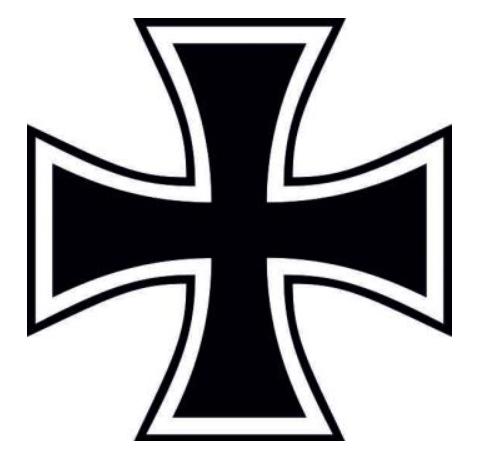 Eisernes Kreuz - Aufkleber(wasserfest)