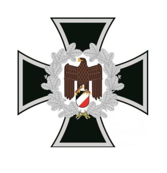Eisernes Kreuz mit Reichsadler - wasserfester Aufkleber