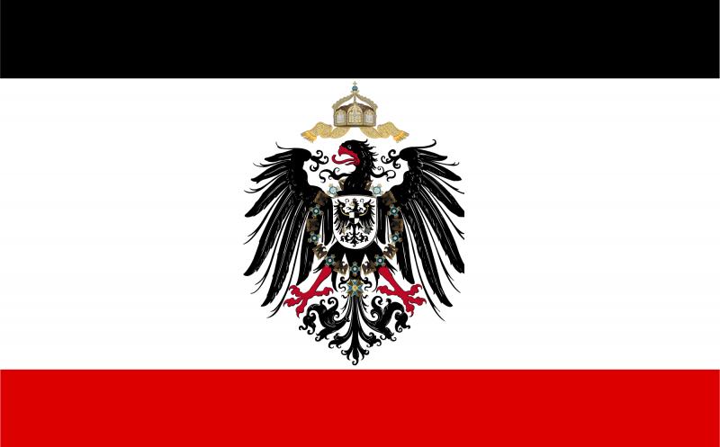 Deutsches Kaiserreich - wasserfester Aufkleber