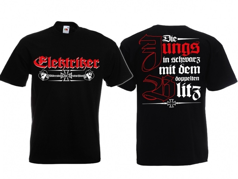 Elektriker - Die Jungs in schwarz mit dem doppelten Blitz ! - T-Shirt schwarz