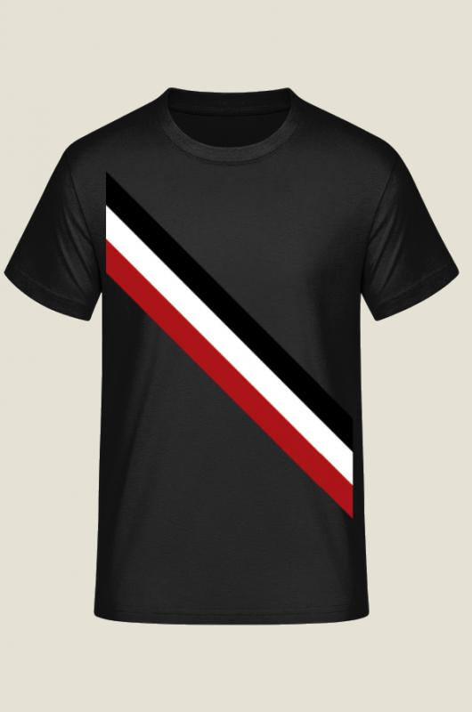 Schwarz - Weiss - Rot - T-Shirt