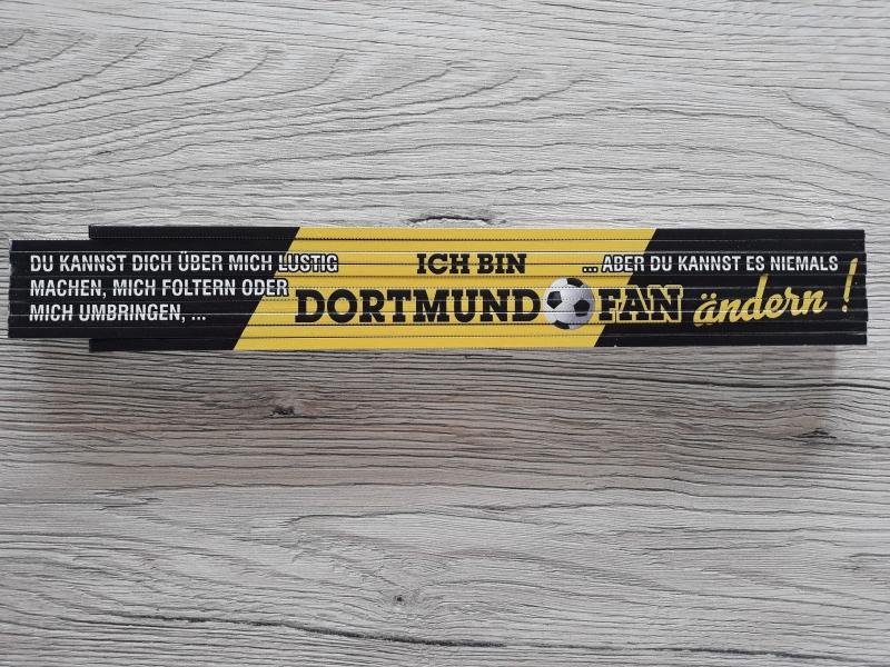 Ich bin Dortmundfan - Zollstock 2m