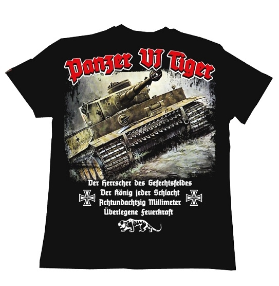 Tiger Panzer - T-Shirt schwarz