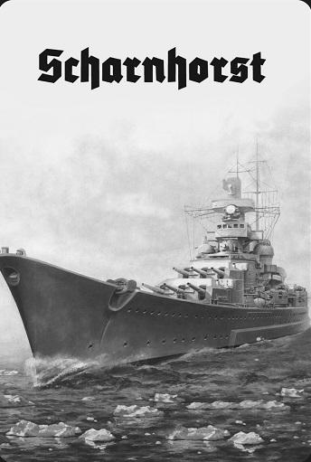 Schlachtschiff Scharnhorst - Blechschild