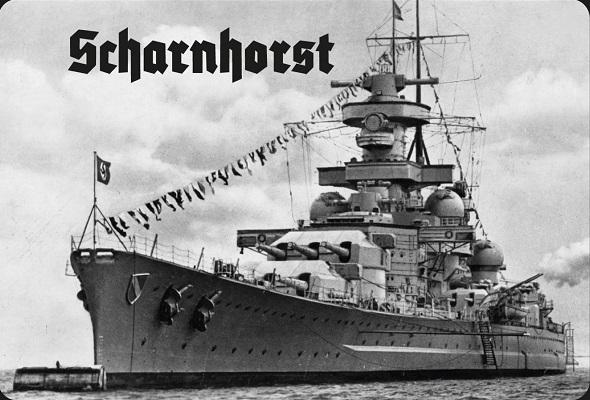 Schlachtschiff Scharnhorst II - Blechschild
