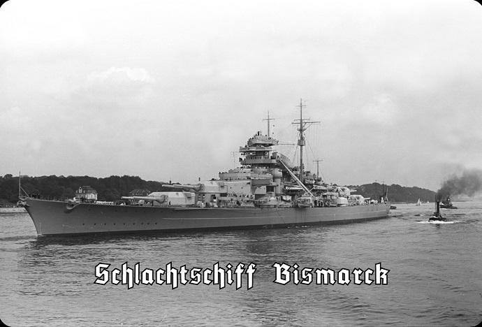 Schlachtschiff Bismarck II - Blechschild