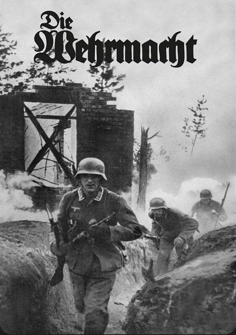 Wehrmacht Soldaten im Gefecht - Blechschild