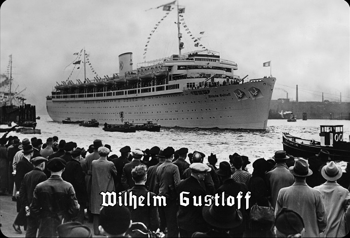 Wilhelm Gustloff - Blechschild