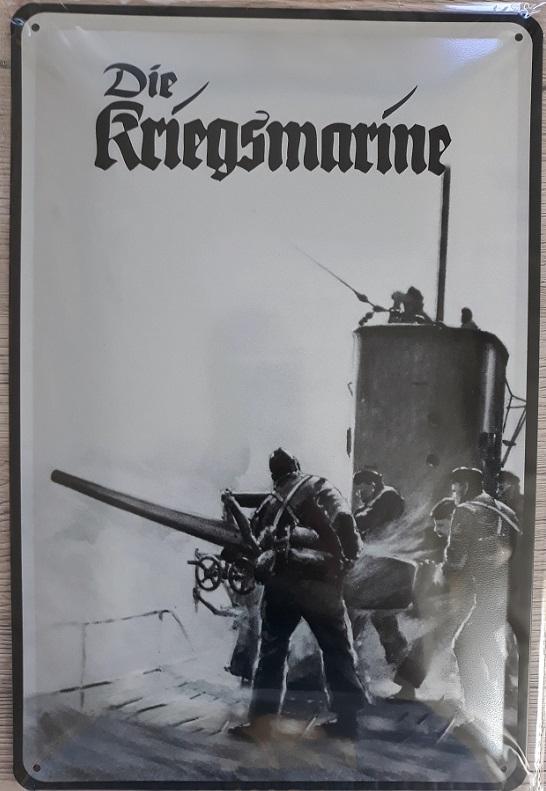 Deutsches U-Boot - Blechschild
