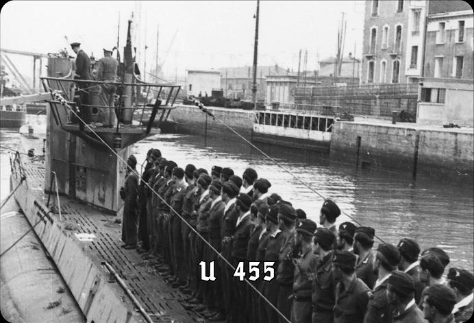 Deutsches U-Boot U-455 Typ VIIC - Blechschild