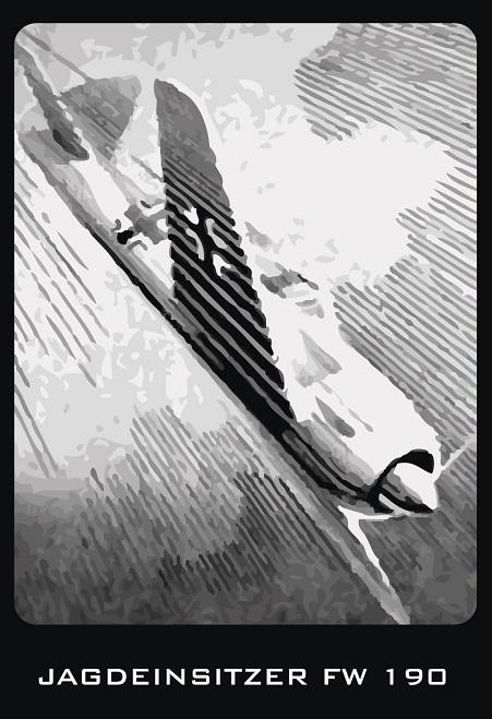 FW 190 - Blechschild