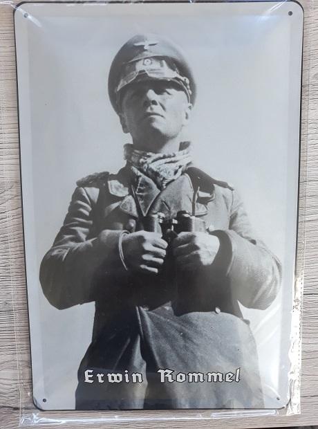 Erwin Rommel IV - Blechschild
