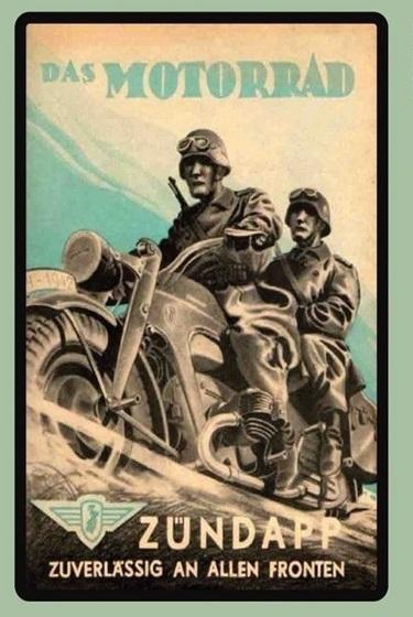 Zündapp Motorrad Wehrmacht Krad - Blechschild
