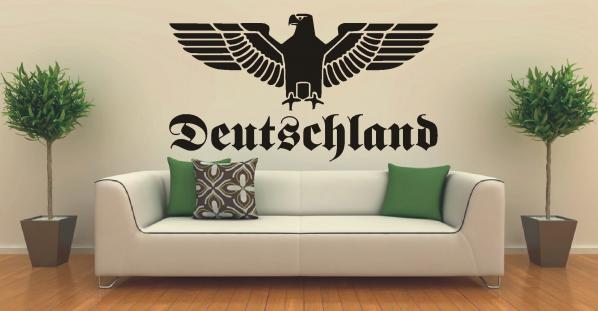 Deutschland Reichsadler - Aufkleber/Wandtattoo 58x35 cm