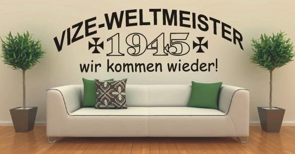Vize-Weltmeister 1945 - Wandtattoo 82x29 cm