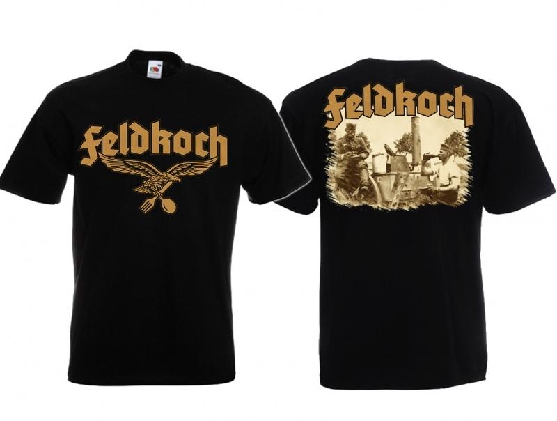 Feldkoch der Wehrmacht - T-Shirt schwarz