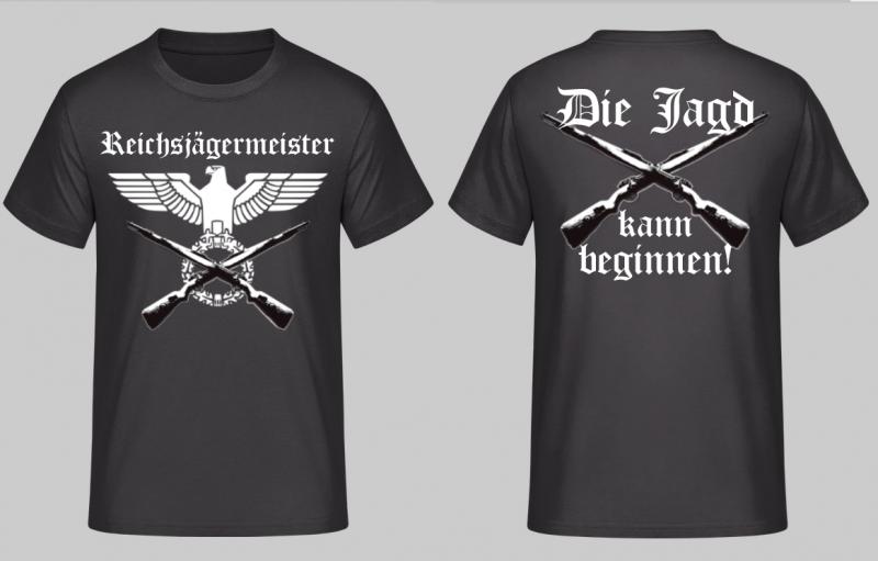 Reichsjägermeister - Die Jagd kann beginnen - T-Shirt schwarz