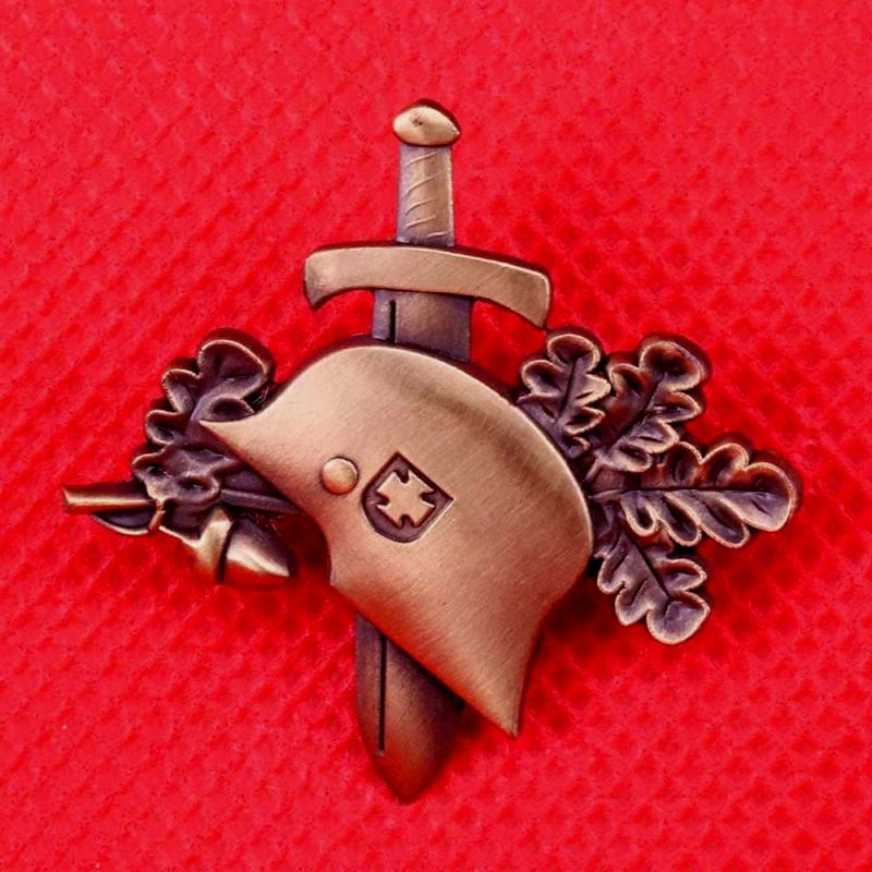 Wehrmacht Stahlhelm, Schwert - Anstecker