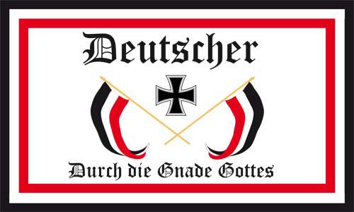 Deutscher durch die Gnade Gottes - Fahne/Flagge 150x250 cm