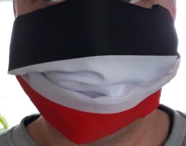 Schwarz-weiss-rot - Tuch/Maske