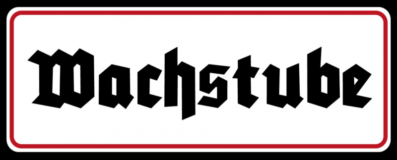 Wachstube - Blechschild