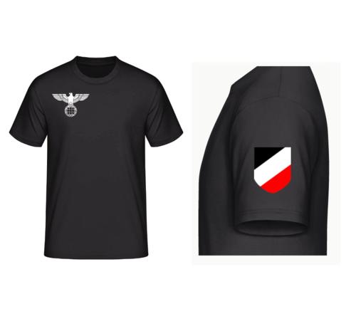 Reichsadler rechte Brust, WH Emblem linker Ärmel - T-Shirt