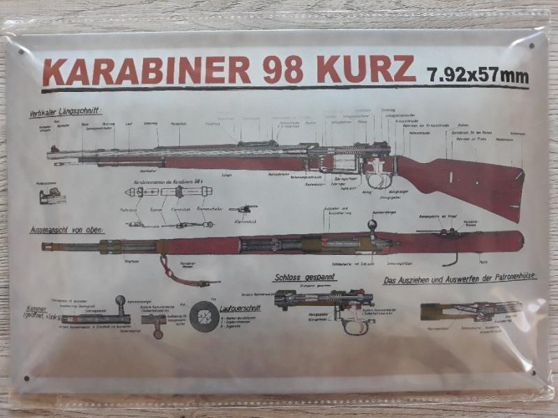 Karabiner 98k - Blechschild