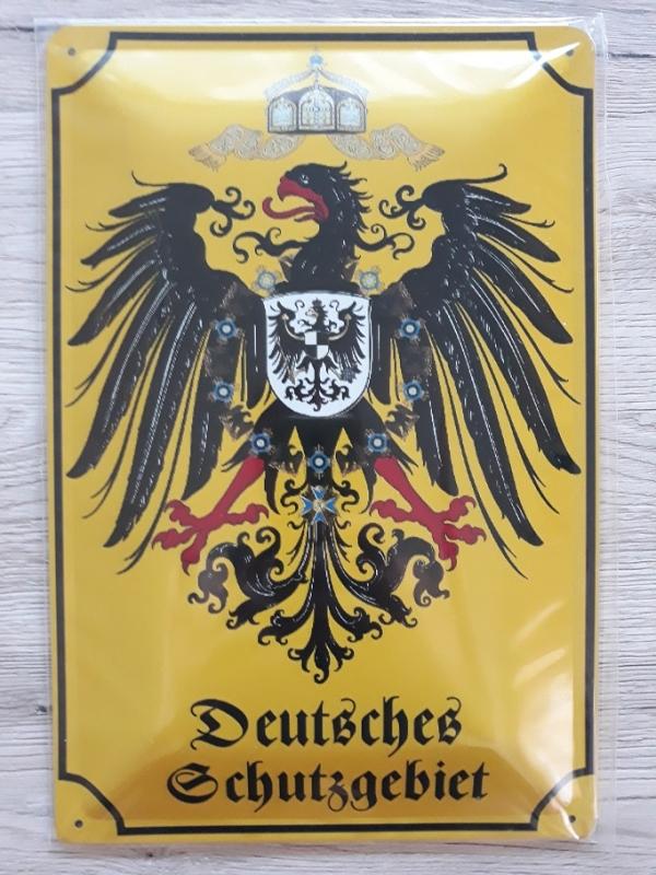 Deutsches Schutzgebiet III - Blechschild