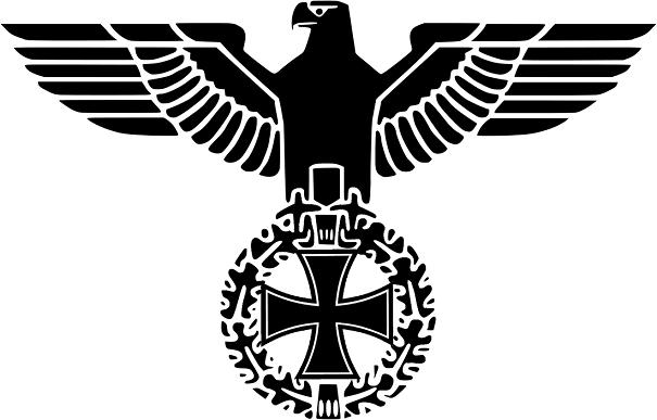 Reichsadler schwarz - Abziehbild 20x14cm transparent