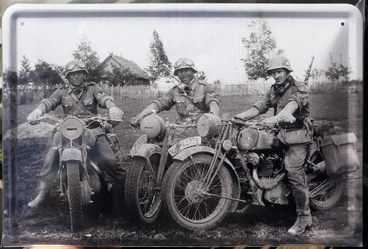 Wehrmacht Motorrad Krad - Blechschild