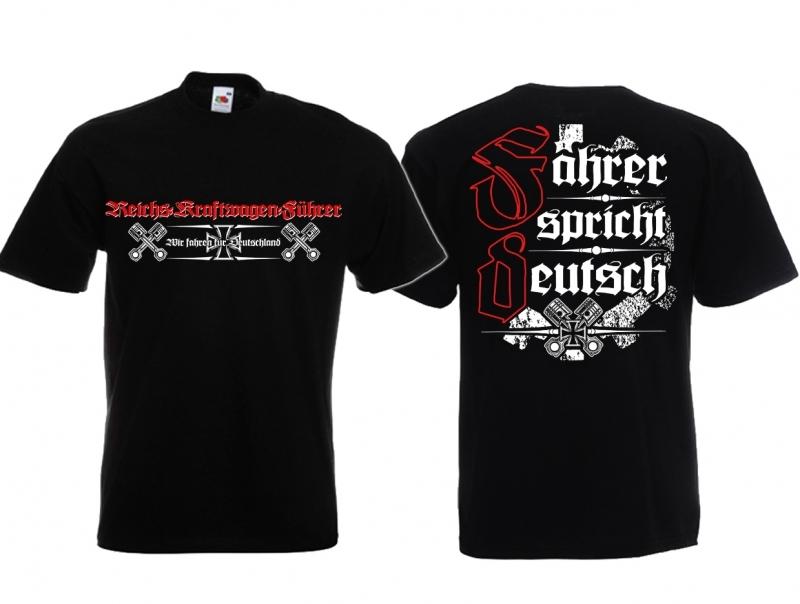 Führer eines Reichskraftwagen - T-Shirt schwarz