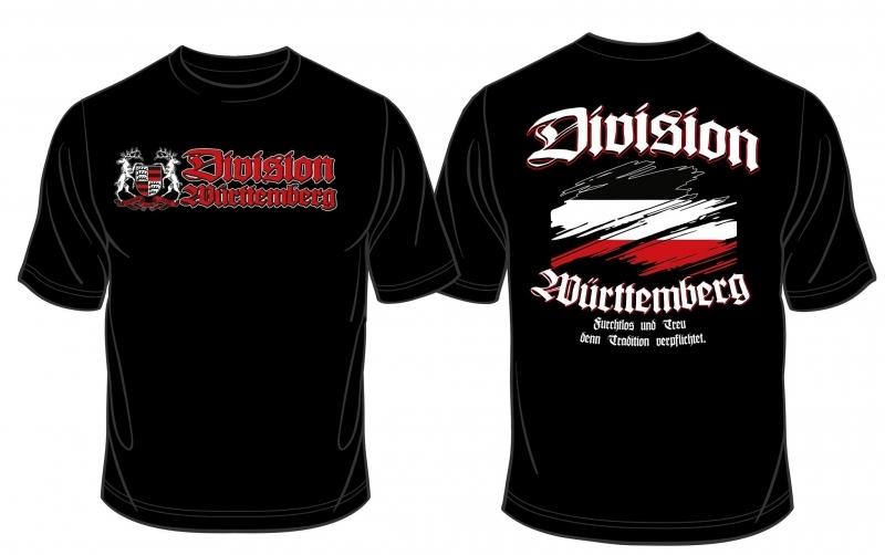Württemberg Division - Tradition verpflichtet - T-Shirt schwarz