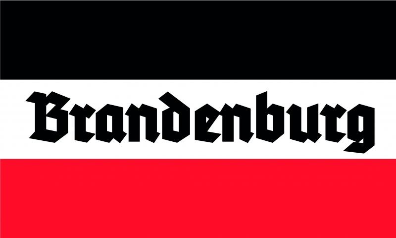 Brandenburg - Schwarz/Weiss/Rot - Fahne 150x90cm