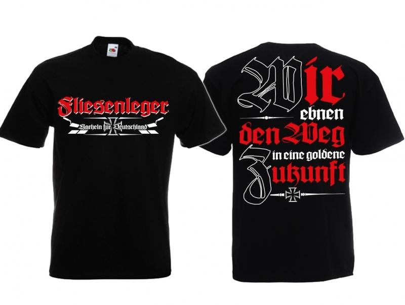 Fliesenleger - Wir ebnen den Weg - T-Shirt schwarz