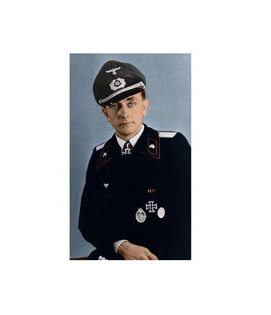 Leutnant Otto Carius 1944 - Kunstdruck - Poster - 60,0 x 30,0 cm