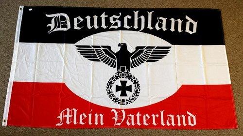 Flagge/Fahne Deutschland Mein Vaterland Reichsadler Eisernes Kreuz 150x90cm