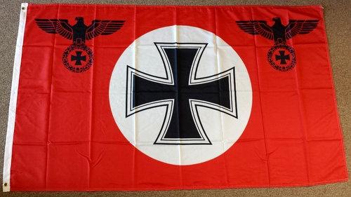Rote Flagge/Fahne Eisernes Kreuz Reichsadler