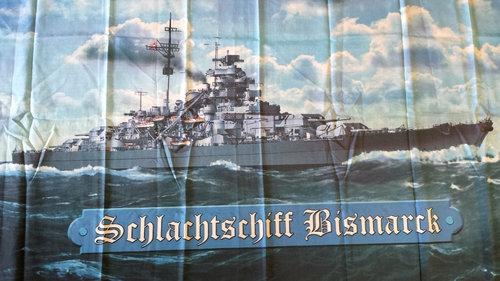 Schlachtschiff Bismarck II - Flagge/Fahne 150x90cm
