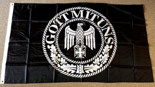 Gott mit uns Reichsadler - Fahne/Flagge 150x90cm