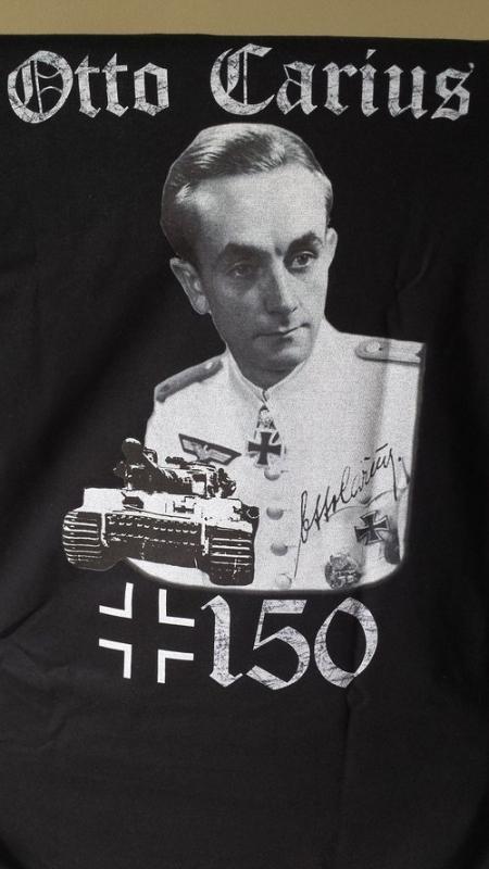 Otto Carius 150 Panzer zerstört - Rücken Motiv T-Shirt