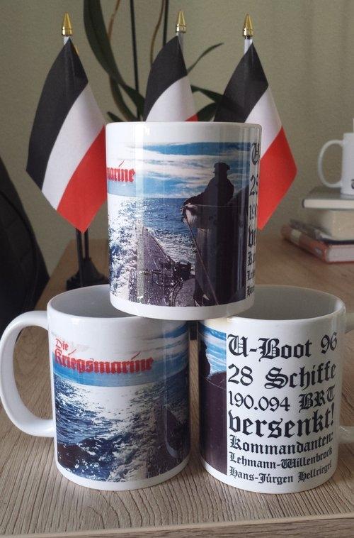 Deutsches U-Boot 96 - 3 Tassen(Rundumdruck)