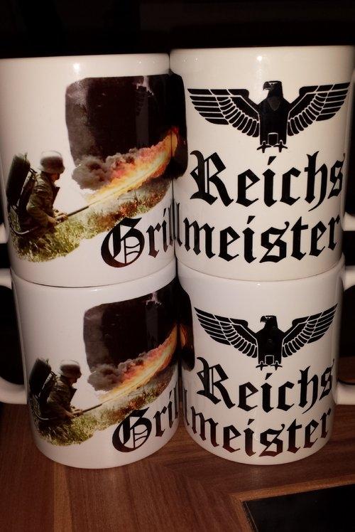 Reichsgrillmeister - 4 Tassen(Rundumdruck)