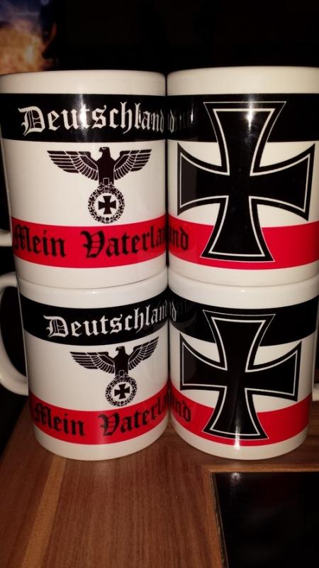 Deutschland Mein Vaterland - 4 Tassen(Rundumdruck)