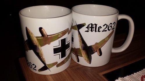 Düsenjäger Me 262 - 4 Tassen(Rundumdruck)