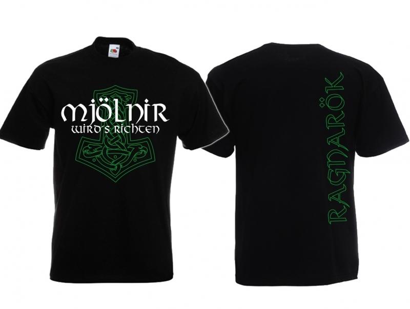 Mjölnir wirds richten - T-Shirt schwarz